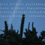 Photoquote 42 - Live without pretending