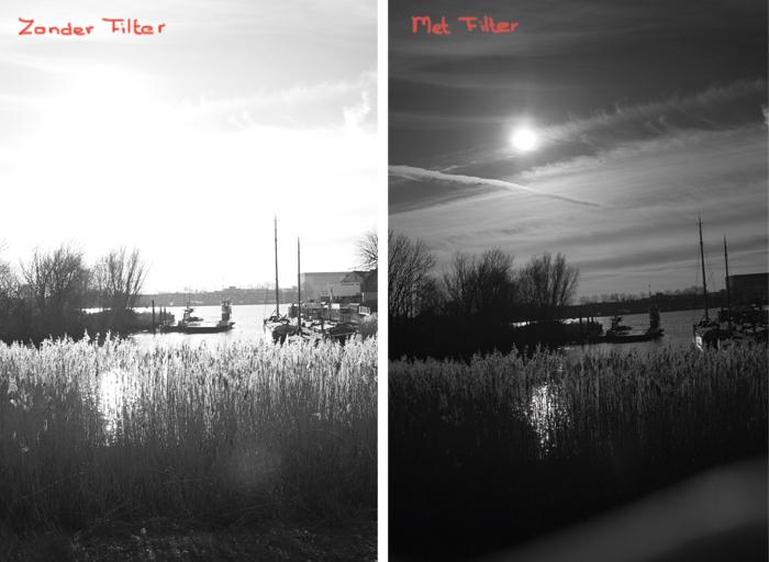 rood-filter Fotograferen met een rood filter