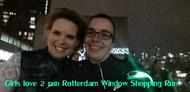 Girls love 2 run Rotterdam Window Shopping Run