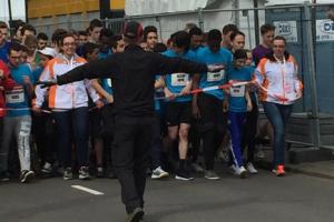 Vrijwilliger tijdens Marathon weekend